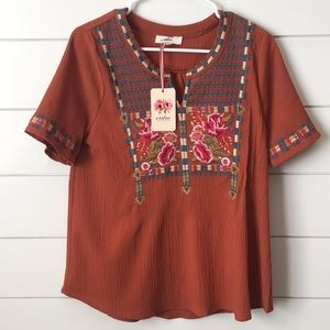 Cameron embroidered top
